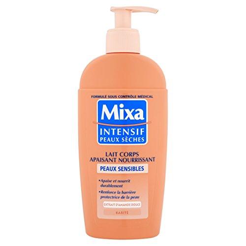 Mixa Intensif Peaux Sèches - Lait Corps Apaisant Nourrissant pour Peaux Sensibles - 250 ml - Lot de 2