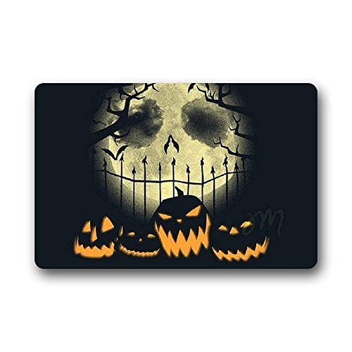 zunhuagong Heymat Unique Design Doormats Home Decorationative Nightmare Before Christmas Halloween Doormat Size 23.6(L) X 15.7(W) Doormat Floor Mat Gate Pad Cover Indoor Outdoors Mats (Happy Nightmare Christmas Halloween Before)