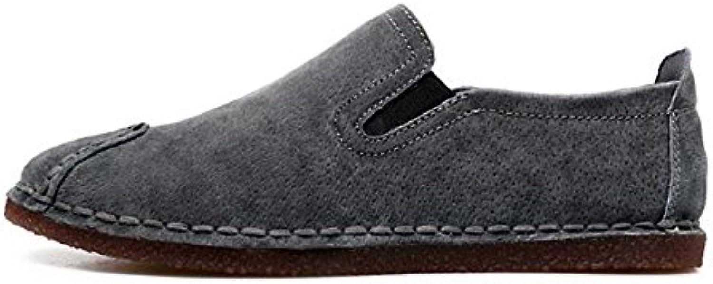 Zapatos Casuales de Cuero de Corte bajo para Hombres Zapatos de Conducción