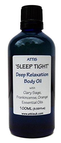 Attis 'Sleep tight' Deep Relaxation Body oil | con oli essenziali di salvia sclarea, incenso, arancione a mano | naturale | vegan