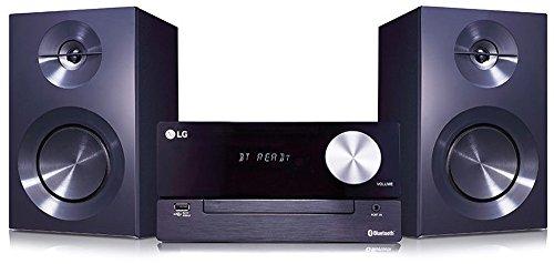 LG CM2460 - Microcadena (2 x 50 W, 2 vías, 80 Hz-20 kHz, USB), color negro