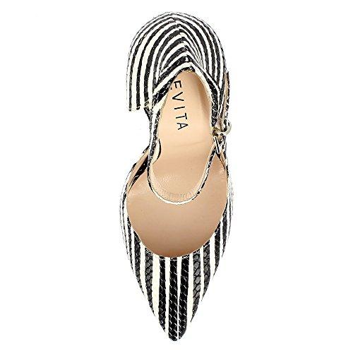 Scarpe Stampato Zebra Serpente Ottica Scarpe Donna Lisa Evita nHW6x6