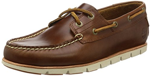 Timberland Tidelands Classic 2 Eye, Náuticos para Hombre, Marrón MD Brown Full Grain, 45 EU