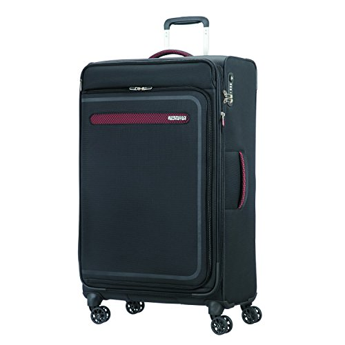 American Tourister Airbeat - Spinner 80/30 Expandable Bagage cabine, 80 cm, 112 liters, Noir (Universe Black)