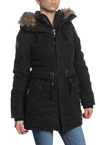 Khujo Jacke Women EIVOLA WITH INNER JACKET Black, Größe:M