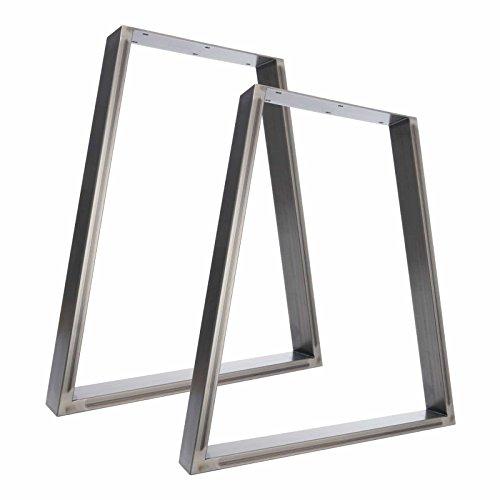 table legs metal. the trapezium design - 2 x steel table / desk bench pedestal legs metal