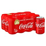 Coca-Cola - Regular, Refresco con gas de cola, 330 ml (Pack de 12), Lata