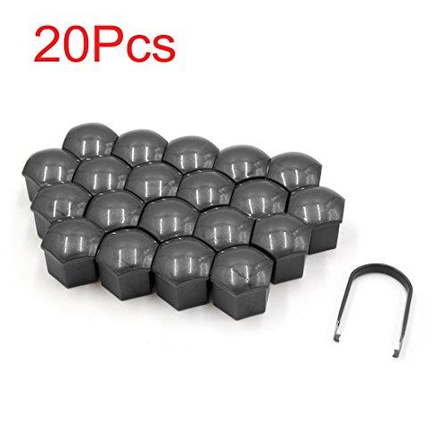 Sourcingmap® 20 pcs en plastique Gris de voiture Écrou de roue Lug hub couvertures Vis à la poussière caches