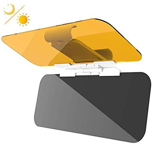 Wjw Auto Sonnenblende Erweiterung, Auto Anti Glare Driving HD Visier, Tag und Nacht Vision Eye Protector Anti-Glare Anti-UV-Anti-Dazzle Windschutzscheibe Extender (1 Pack)