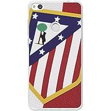 Becool TPU-HU130-ATM08 - Funda Gel Flexible Atlético de Madrid para Huawei P8 Lite 2017 diseño escudo 1, Multicolor
