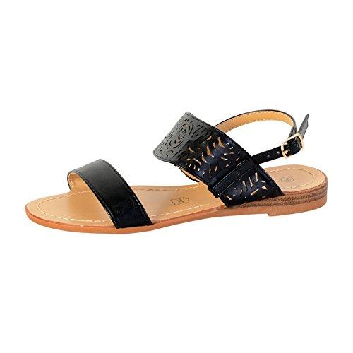Sandale Plate Enza Nucci JL2834 Noir Noir