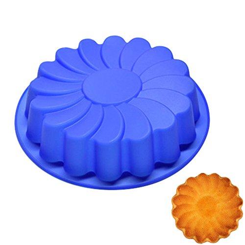 Silikon-Brot-Laib-Kuchen-Form mit Antihaftbeschichtung, Blume Silikonbackform mit Antihaft-Wirkung aus lebensmittelechtem Silikon, flexible Brotform, Kastenform, Brot-Backform, für Backofen und Mikrowelle oder Gefrierfachh