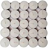 Tea Light Candle Unscented Non Smoke, Pure White (Pack Of 100 Candles)