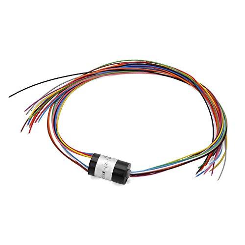 12 Drähte Mikro-Kapsel Schleifring 1.5A pro Schaltung 240V AC/DC für elektronische Bauteile d12.5 mm Gimbal Motor Roboter