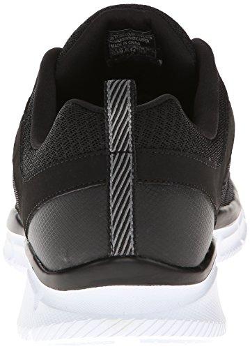 Skechers Equalizerdeal Maker, Baskets Basses homme Noir - Noir/blanc