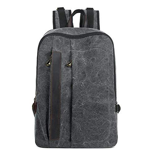 Herren 14-Zoll-Collage School Computer Rucksack Einfache Reise Umhängetasche -