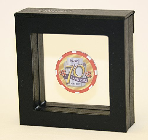 1Single Casino Chip Gold Münze Medaillon Display Case Box Rahmen Halter Shadowbox mit Gravur Platte sfdisplay. COM, LLC. (Münze Halter Platte)