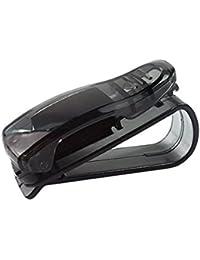 Kingken Conveniente tipo S Clip de billete para gafas de sol tarjetas de visita (negro)