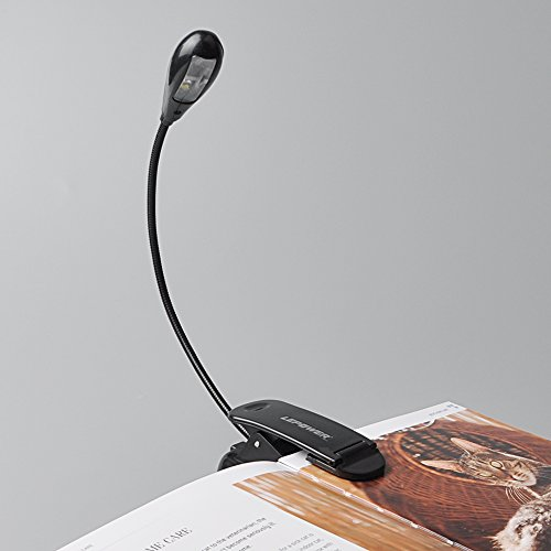 LEPOWER® Music Stand Night light / Reading Lights / Clip on Bed Light / Clip on and portable lights for E-Reader & Bed headboard (Single Arms) Test