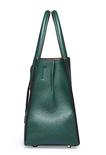 Sacs à main pour femme Xinmaoyuan Lock Cuir Tote Bag Sac de Messager d'épaule de sac à main Simple green