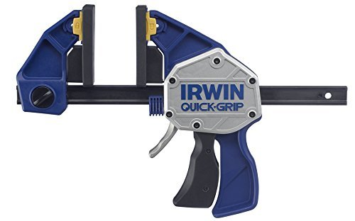 Irwin 10505942 XP Einhand-Zwinge 150 mm, extrem Haltekraft 250 kg, Spreizfunktion
