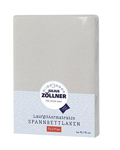 Julius Zöllner 8390349540 Frottee Spanntuch, passend für Laufgittermatratzen 68x90 bis 95x95 cm, Taupe