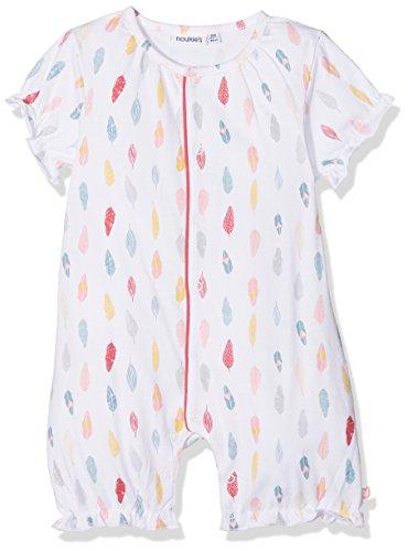 Noukies Combinaison Courte Jersey Graphic Pyjama Blanc, 18-24 Mois (Taille Fabricant: 18M) Bébé Fille