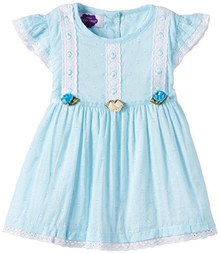 Cupcake Baby Girls' Dress ( 11142438112 _ White and Navy _ 3-6 Months )