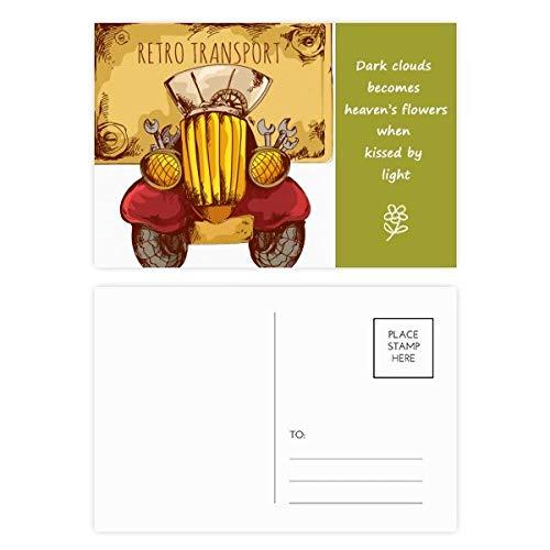 Postkarten-Set mit Cartoon-Motiv, Retro, Vintage, britische Poesie, 20 Stück