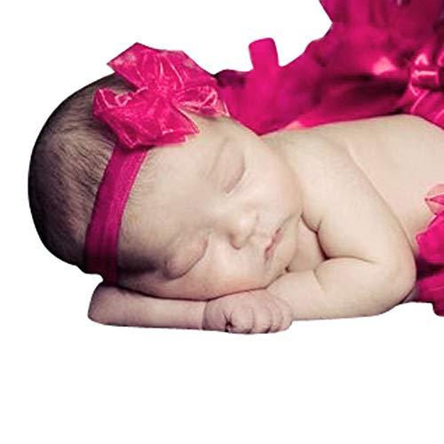 Fotografie Requisiten,Baby Fotoprops, Mädchen Jungen Kostüm Foto Prop Kurz Tutu Rock Tüllrock Minirock Reifrock Hauchrock Ballettrock + Stirnband Outfits Mode Headwear (Pink)