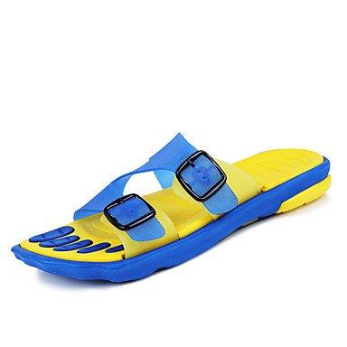 Sommer Sandalen Herrenschuhe Outdoor/Arbeit und Pflicht/Sportlich/Kleid/Casual Silikon Hausschuhe Blau/Gelb/Taupe Taupe