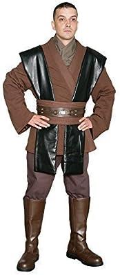 STAR WARS JEDI ANAKIN SKYWALKER Disfraz - Túnica Set - Réplica Star Wars Disfraz - Marron, Marrón, Hombre: L