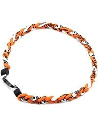 HuaYang sports 3 corde tressée colliers de titane tornade de sport de baseball(Orange/Orange/Blanc)