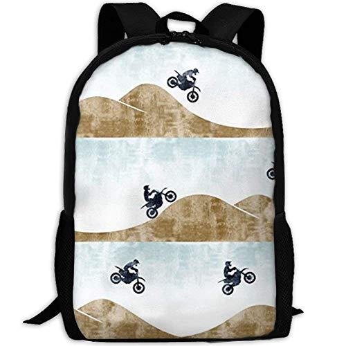 Rucksack Schultaschen Jugendliche Backpack for Women Men Motocross Dirt Bike Student Backpack Outdoor College Laptop Bookbag Business Rucksack Fits MacBook Air