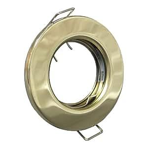 GU10 230V AC Feste brandschutzklassifiziert Brass Pressed Steel Down Light -5 Pack