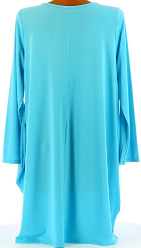 Charleselie94® - Robe boule Jersey Grande Taille bleu turquoise OLIVE BLEU Bleu