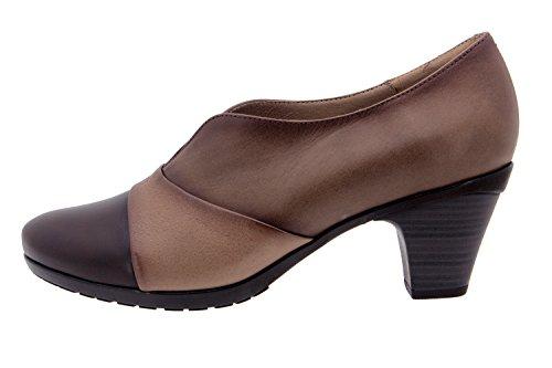 Chaussure femme confort en cuir Piesanto 3433 casual comfortables amples Café