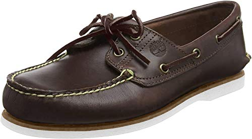 Timberland classic 2 eye, scarpe da barca uomo, marrone (med brown full grain), 43 eu