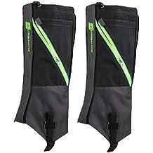 1 Par De Botas Polainas Nieve Impermeable Legging Pierna Cubre Robusta Escalada Senderismo Caminar Al Aire Libre - Gris Negro