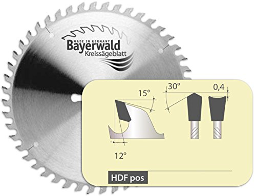 Bayerwald - HM Kreissägeblatt - Ø 220 mm x 3,2 mm x 30 mm   Hohldach Flachzahn (42 Zähne)   Nebenlöcher: 2/7/42   Spezialsägeblatt für Formatschnitte