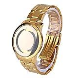 einfacher Entwurf Keine Wort-Runde Quarz-Frauen-Edelstahl-Armbanduhr