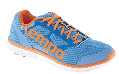 Kempa K-Float, Chaussures de Handball Mixte Adulte Multicolore (Kempableu/Orange)