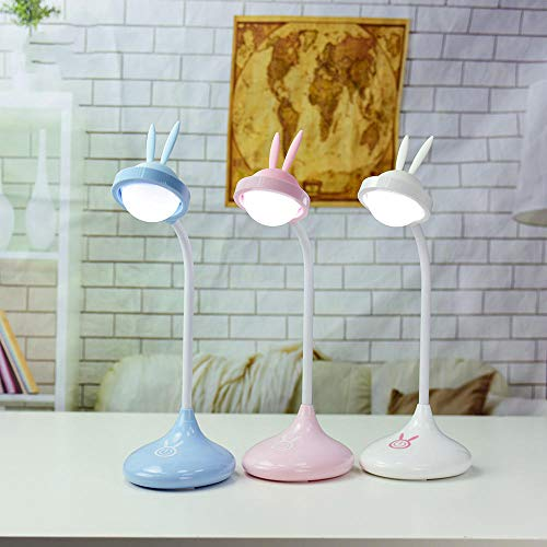 Custom Home Office Schreibtische (Free Star Stepless Dimming USB Night Light Rotating Angled Gift Custom Light Bunny Desktop Eye Table Lamp@white)