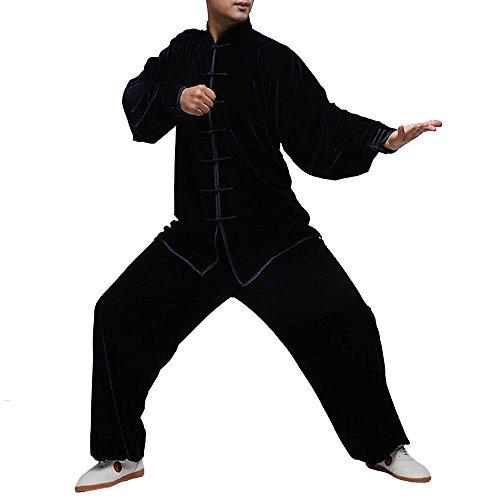 Fließender Unisex Samt Anzug für Tai Chi und Freizeit im Chinesischen Stil #103