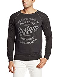 People Mens Cotton Sweatshirt (8903880520786_P10101356523100_Medium_Black)