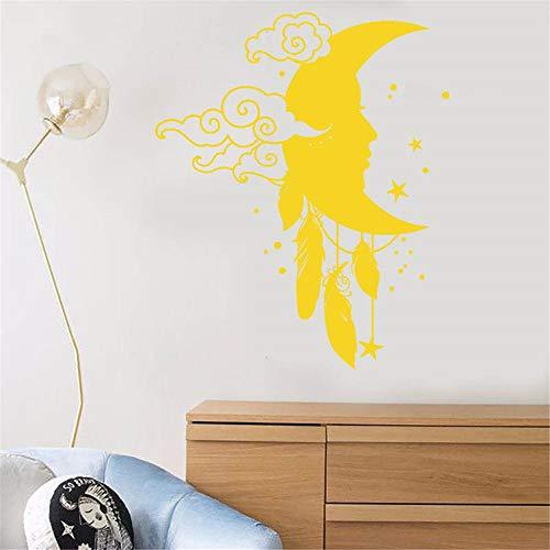 Adesivo murale albero bianco star clouds moon antropomorphic cartoon baby room per cameretta per camera da letto