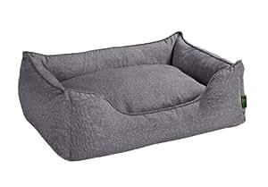 hunter 61431 boston panier pour chien gris taille l dimensions ext 100 x 72 x 27 cm coussin. Black Bedroom Furniture Sets. Home Design Ideas