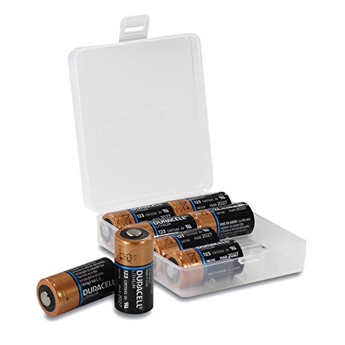 8x DURACELL High Power Lithium CR123A 3V Lithium Batterie (NEUE VERSION, vormals Duracell Ultra Lithium CR123A), in praktischer Batteriebox von WEISS - more power + Cr123a Dl123a 3v Lithium-batterien