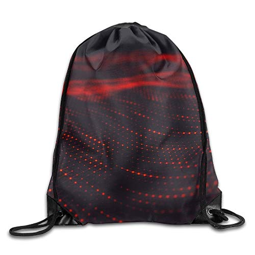 CSXKUL Abstract Polygonal Low Poly Wave Background with Connecting Dots and Lines Abstract Flow Drawstring Bags Hiking Backpack Sport Bag for Men & Women -