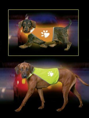 Karlie - SAFETY DOG WESTE Sicherheitsweste- Neon Orange HW 48-56, BW 68-78m -